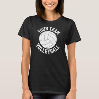 Schwarzer u. weißer Volleyball-kundenspezifischer T-Shirt