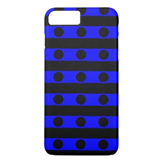 Schwarzer und blauer Telefon-Kasten iPhone 7 Plus Hülle