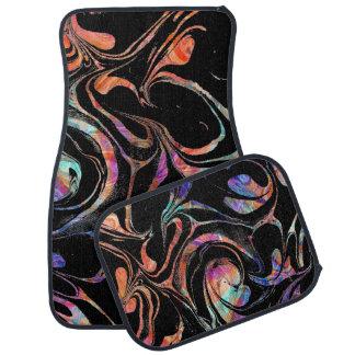 Schwarzer und bunter abstrakter MarmorWirbel Automatte