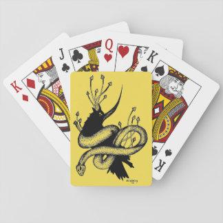 Schwarzer und gelber Pilz-Spielkarten der Krähen-n Spielkarten