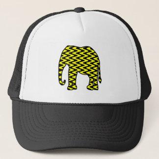 Schwarzer und gelber Zickzack-Elefant Truckerkappe