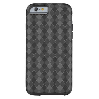 Schwarzer und grauer Rautenmuster iPhone 6 Kasten Tough iPhone 6 Hülle