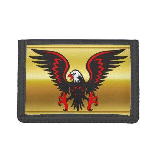 Schwarzer und roter Adler des Comicstreifens mit