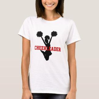 Schwarzer und roter Cheerleader-T - Shirt