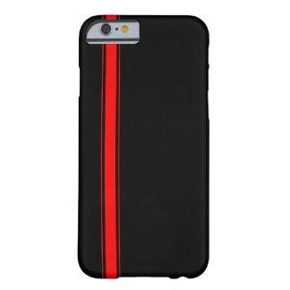 Schwarzer und roter laufender Streifen iPhone 6 Barely There iPhone 6 Hülle