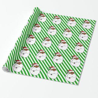 Schwarzer Weihnachtsmann Geschenkpapier