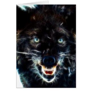 Schwarzer Wolf Karte