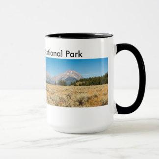 Schwarzes 15 Unze-Wecker-Tasse Teton Park Tasse