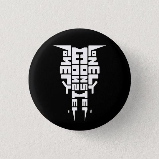Schwarzes Abzeichen mit weißem LM-Totem-Logo Runder Button 3,2 Cm