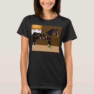 Schwarzes arabisches Pferdeweihnachten T-Shirt