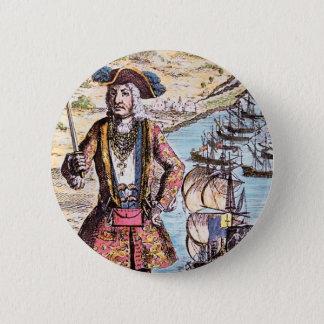 Schwarzes Bart-Farbporträt Runder Button 5,1 Cm