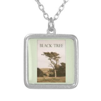 Schwarzes Baum-Silber überzogene Halskette