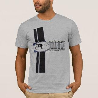 Schwarzes blaues Radfahren n T-Shirt