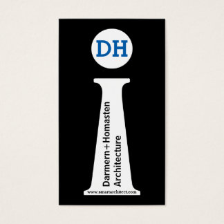 Schwarzes des Architekten modernes, weißes, blaues Visitenkarte