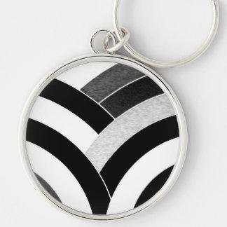 schwarzes des Chic modernes/Weiß gebogenes Schlüsselanhänger