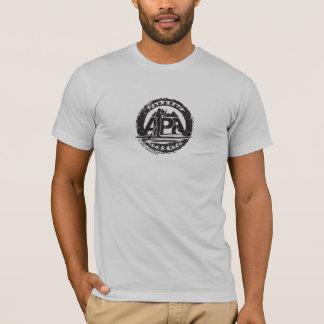 Schwarzes die Briefmarken-T-Stück der Männer T-Shirt