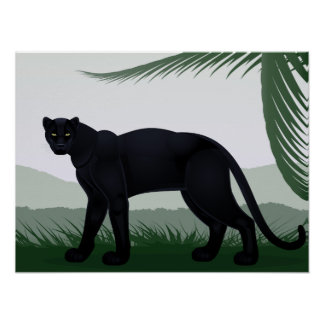 Schwarzes Dschungel-Panther-Plakat Poster