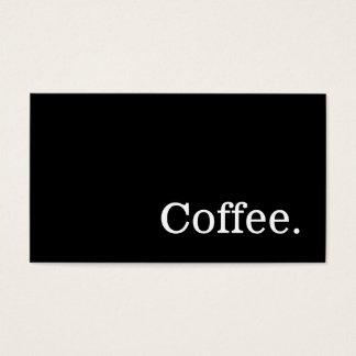 Schwarzes einfaches Nachrichten-Wort-dunkle Visitenkarte