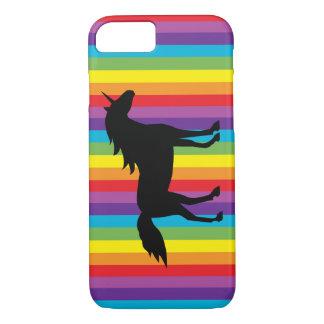Schwarzes Einhorn und Regenbogen iPhone 7 Fall iPhone 8/7 Hülle