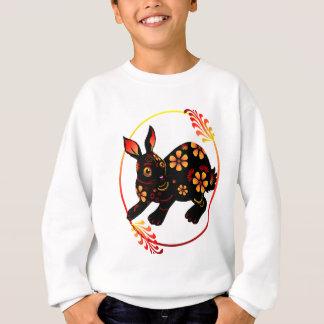 Schwarzes entwarf Kaninchen-Shirts Sweatshirt