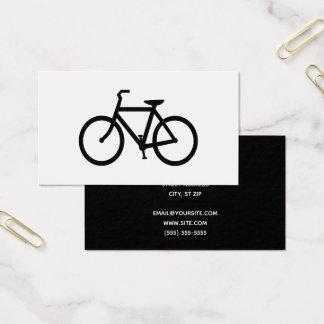 Schwarzes Fahrrad Visitenkarte