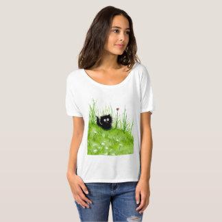 Schwarzes flockiges Katzen-Shirt durch Bihrle T-Shirt