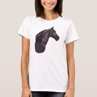 Schwarzes gehendes Pferd Tennessees T-Shirt