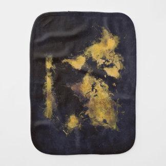 schwarzes Gelb der Weltkarte Baby Spucktuch