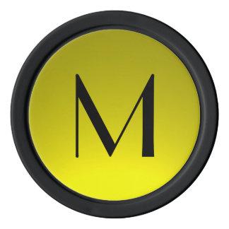 Schwarzes Gelb verblassen kundenspezifische Pokerchips