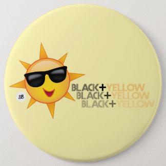 Schwarzes + Gelbes Mega- Yinz Button