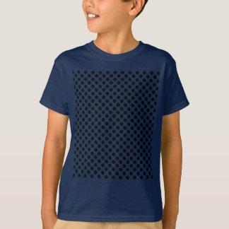 Schwarzes gepunktetes Blau scherzt T - Shirt