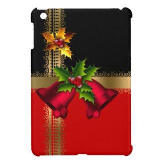 Schwarzes Gold frohe Weihnacht-Feiertags-rotes Hüllen Für iPad Mini
