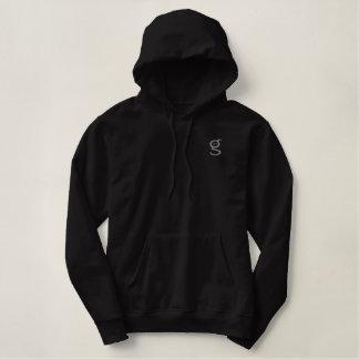 Schwarzes Grau des Hoodie-w stickte mich sind Bestickter Pullover Hoodie