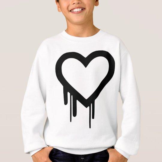 Schwarzes Heartbleed Bratenfettherz Sweatshirt