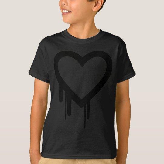 Schwarzes Heartbleed Bratenfettherz T-Shirt