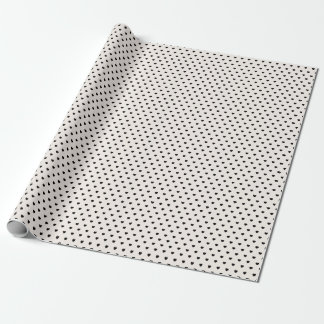 Schwarzes Herz-Muster-Packpapier Geschenkpapier