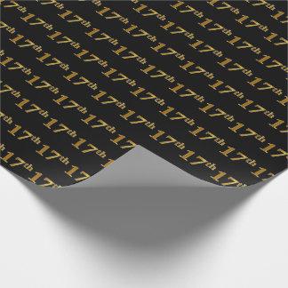 Schwarzes, Imitat-Gold17. (siebzehntes) Ereignis Geschenkpapier
