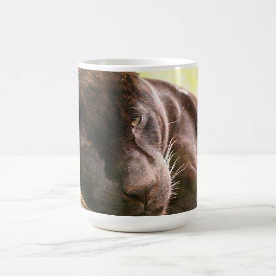 Schwarzes Jaguar Kaffeetasse