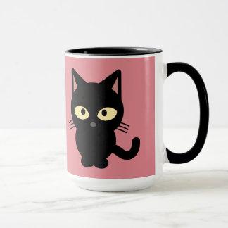 Schwarzes Kätzchen Tasse