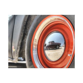 Schwarzes klassisches Auto Leinwanddruck