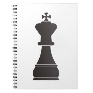 Schwarzes Königschachstück Notizbücher