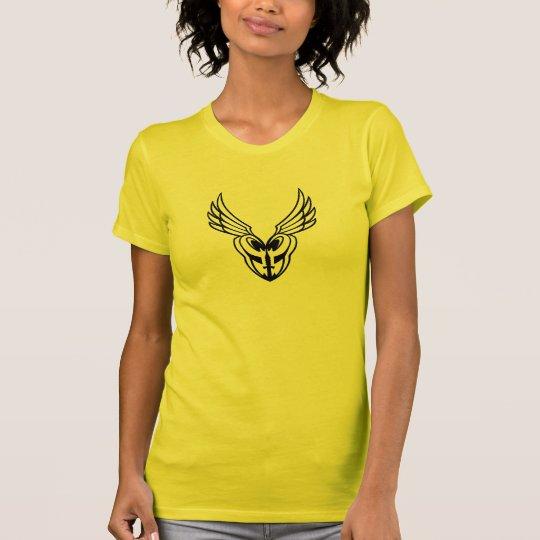 Schwarzes Konturlogo T. der Damen-PoM T-Shirt