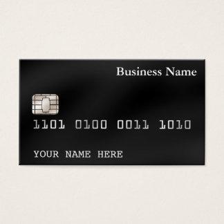 Schwarzes Kreditkarteart VISITENKARTE (2-sided)