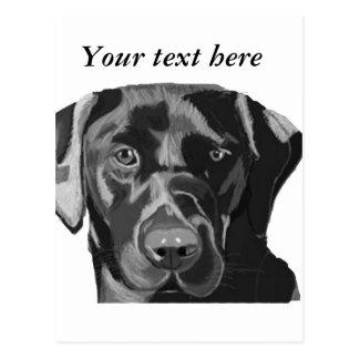 Schwarzes Labrador Postkarte