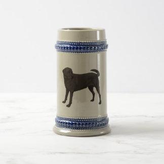 Schwarzes Labrador retriever-Bier Stein Bierglas