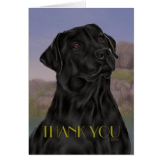 Schwarzes Labrador retriever danken Ihnen Karte