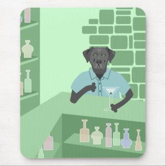 Schwarzes Labrador-Retriever-Martini-Bar Mousepad