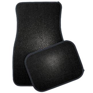 Schwarzes Leder auf Schwarzem Automatte
