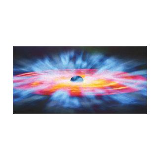 Schwarzes Loch-Ausflüsse - buntes Künstler-Konzept Leinwanddruck