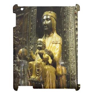 schwarzes madonna Montserrat iPad Hülle